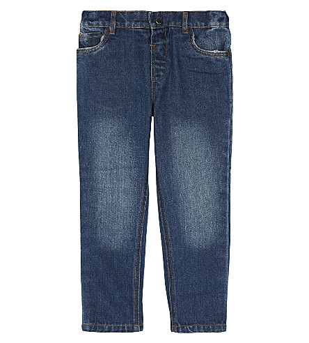 THE LITTLE WHITE COMPANY Spring wash denim jeans 1-6 years (Denim