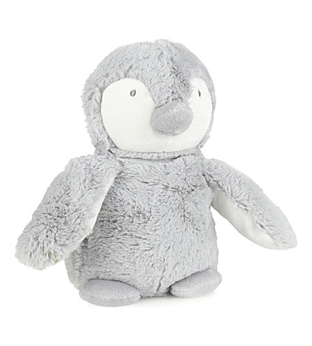 THE LITTLE WHITE COMPANY Snowy penguin mini 12cm (Grey