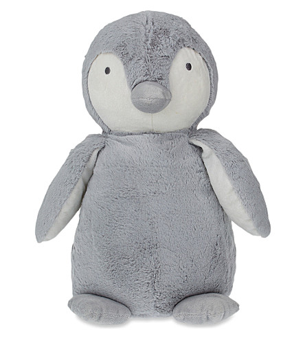 THE LITTLE WHITE COMPANY Snowy penguin soft toy 45cm (Silver