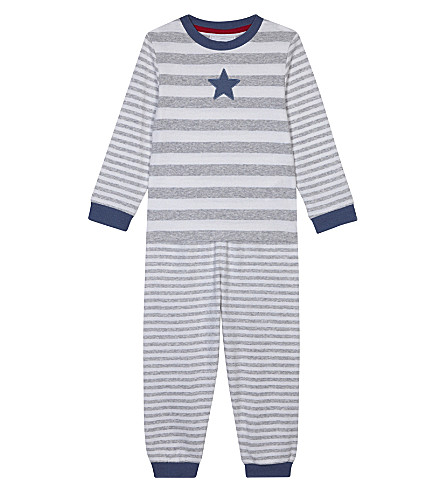 THE LITTLE WHITE COMPANY Striped pyjamas 1-6 years (Grey+marl