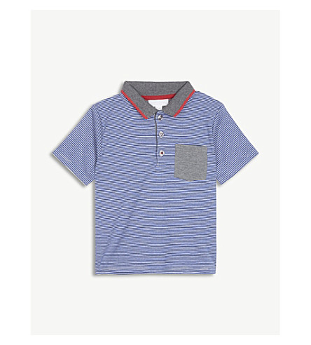 THE LITTLE WHITE COMPANY Striped cotton polo shirt 1-6 years (Multi