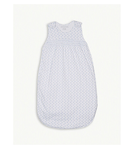 THE LITTLE WHITE COMPANY Heart print cotton sleeping bag 1.0 tog (Multi