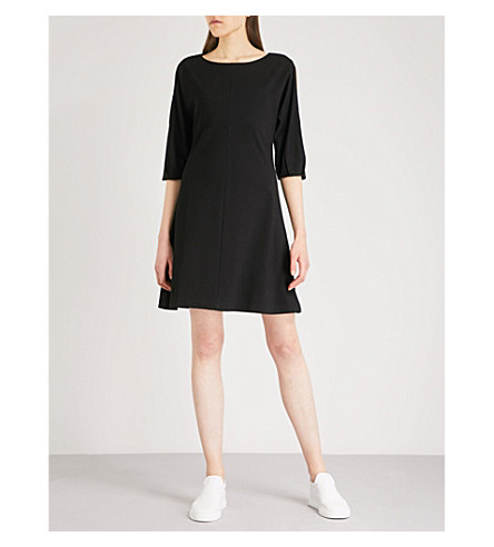 THE WHITE COMPANY Cold-shoulder jersey dress (Black