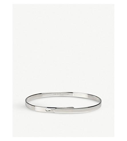 THE WHITE COMPANY Sterling silver notch bangle (Silver