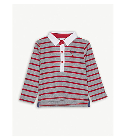 THE LITTLE WHITE COMPANY Striped cotton rugby shirt 1-6 years (Multi