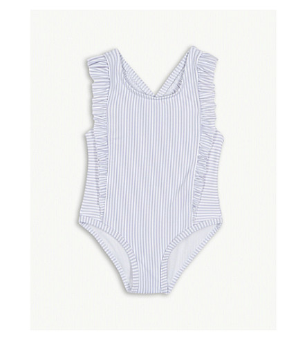 THE LITTLE WHITE COMPANY Striped swimsuit 0-24 months (Multi