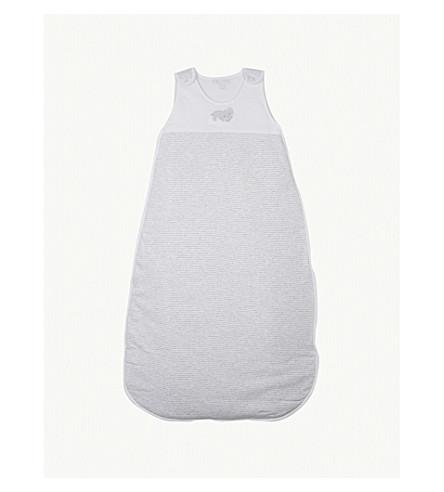THE LITTLE WHITE COMPANY Kimbo striped cotton sleeping bag 2.5 tog (White