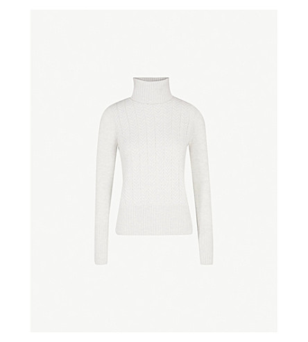 THE WHITE COMPANY Turtleneck wool jumper (Cloud+marl