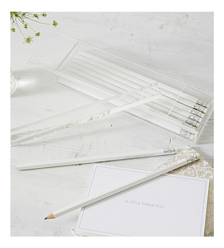 THE WHITE COMPANY Sentiment pencils set of ten (Clear