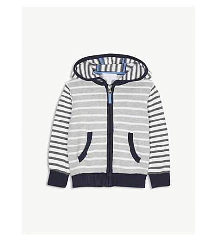 THE LITTLE WHITE COMPANY Striped cotton hoody 1-6 years (Multi