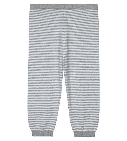 THE LITTLE WHITE COMPANY 条纹棉慢跑裤 0-24 月 (软 + 灰色