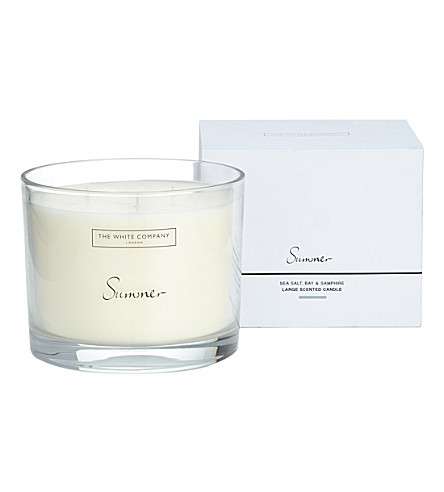 THE WHITE COMPANY Summer large scented candle 770g (No+colour
