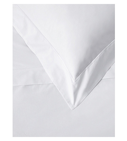 THE WHITE COMPANY Savoy cotton housewife pillowcase (White