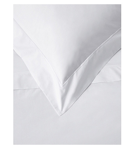 THE WHITE COMPANY Savoy cotton Oxford pillowcase (White