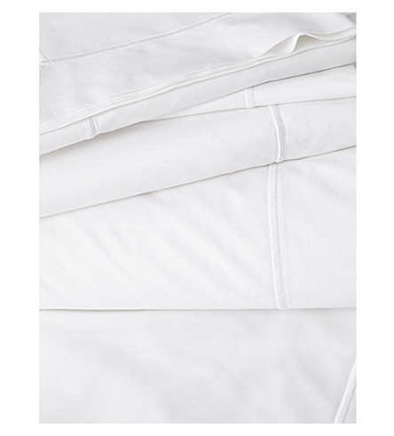 THE WHITE COMPANY Savoy flat sheet (White