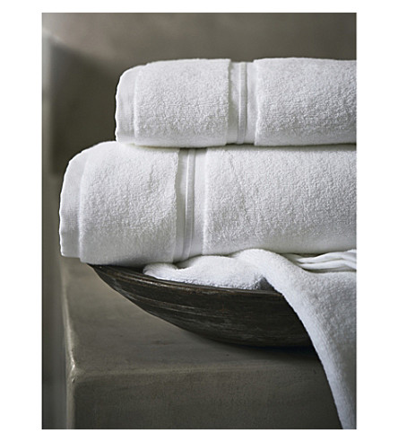 THE WHITE COMPANY Savoy Egyptian-cotton hand towel (White