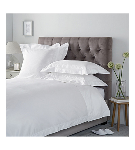 THE WHITE COMPANY Symons egyptian cotton kingsize duvet cover (White