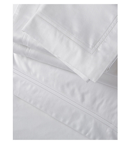 THE WHITE COMPANY Symons double cotton flat sheet (White