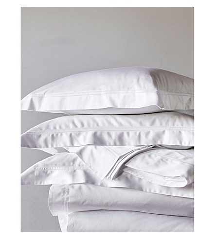 THE WHITE COMPANY Symons kingsize cotton flat sheet (White