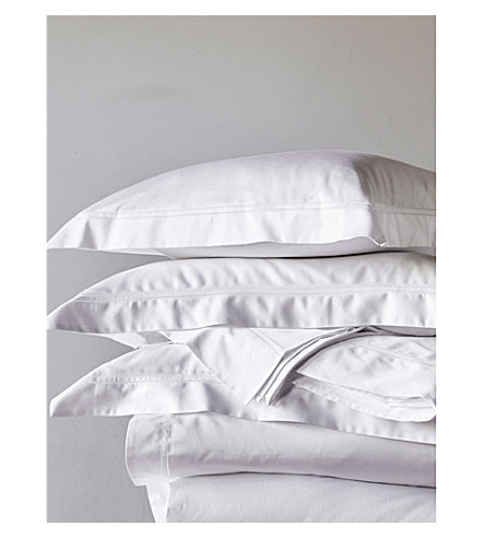 THE WHITE COMPANY Symons cotton sateen super king flat sheet (White