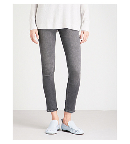 THE WHITE COMPANY Symons skinny mid-rise jeans (Dark+grey
