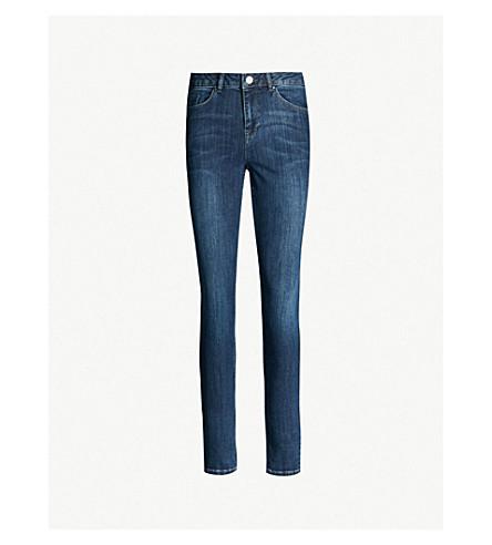 THE WHITE COMPANY Symons skinny mid-rise jeans (Indigo
