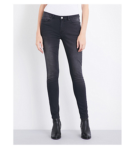THE WHITE COMPANY Symons mid-rise skinny jeans (Charcoal