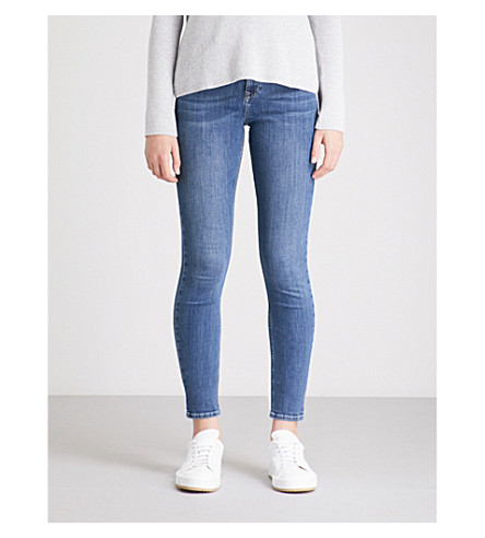 THE WHITE COMPANY Symons skinny mid-rise jeans (Mid+wash