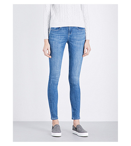 THE WHITE COMPANY Symons high-rise skinny jeans (Mid+wash