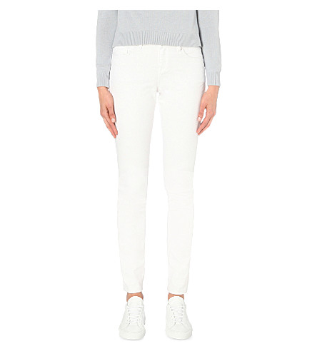 THE WHITE COMPANY Symons skinny high-rise jeans (White