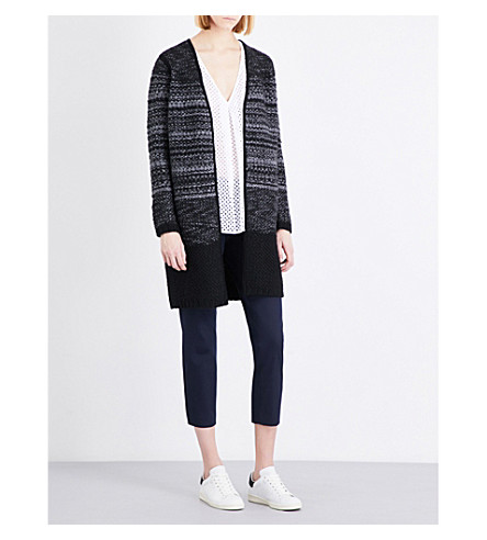 THE WHITE COMPANY Textured wool-blend cardigan (Multi