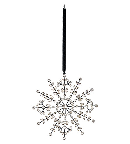 THE WHITE COMPANY Antique Snowflake Christmas decoration (Silver