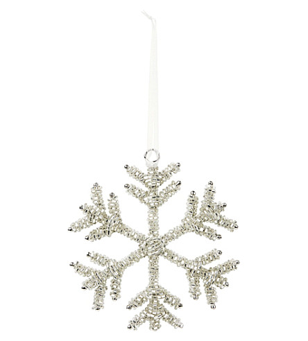 THE WHITE COMPANY Silver beaded snowflake (Silver