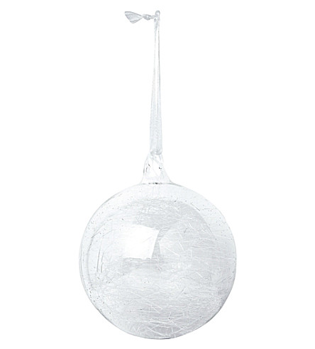 THE WHITE COMPANY Spun glass bauble (Clear