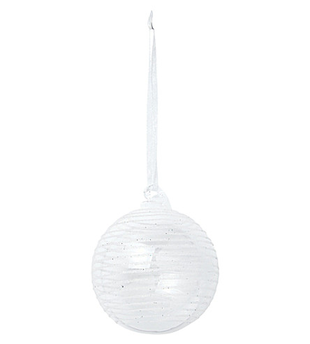 THE WHITE COMPANY Sugar circle bauble (Clear