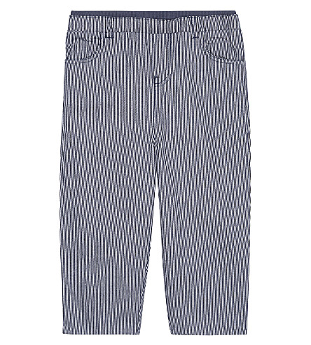 THE LITTLE WHITE COMPANY Ticking stripe cotton trousers 0-24 months (Blue+stripe