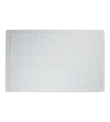 If you loved our Limoges bath mat, you will adore our newer version with its updated border that will bring a lovely fresh feel to your bathroom. Made from absorbent pure cotton, the mat has a soft, deep, bobble-like pile with a neat woven trim.