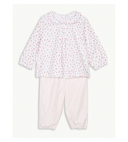 THE LITTLE WHITE COMPANY Tulip blouse and corduroy trousers set 0-24 months (Multi