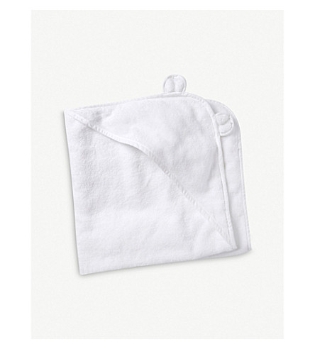 THE LITTLE WHITE COMPANY Hydrocotton hooded teddy bear towel (White