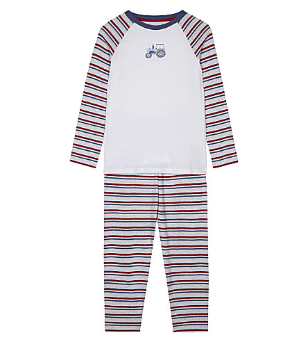 THE LITTLE WHITE COMPANY Tractor print pyjamas 7-12 years (Multi