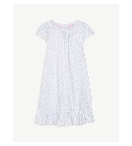 THE LITTLE WHITE COMPANY Tulip-print cotton nightdress 1-6 years (Multi