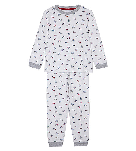 THE LITTLE WHITE COMPANY Tractor print pyjamas 1-6 years (Multi