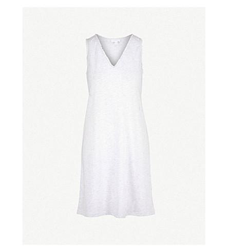 THE WHITE COMPANY Lace trim cotton night dress (Cloud+marl