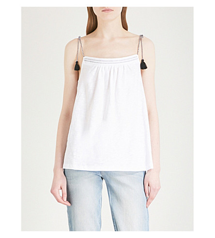 Free Shipping Cheap Quality THE WHITE COMPANY Rope strap tassel tie cotton top White Discount Find Great The Cheapest Cheap Price Free Shipping Sast vYeWUeMg