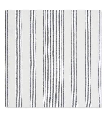 THE WHITE COMPANY Pembridge striped cotton napkins four pack (White/blue