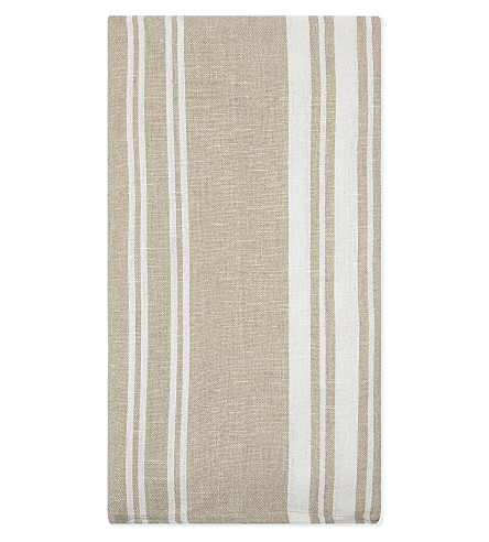 THE WHITE COMPANY Natural stripe tea towel set of two (Natural