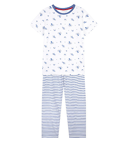 THE LITTLE WHITE COMPANY Under the sea cotton pyjamas 6-12 years (White