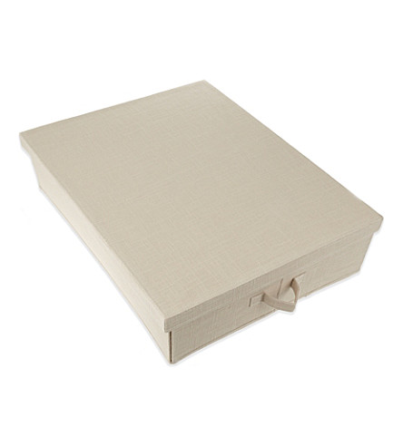 THE LITTLE WHITE COMPANY Natural underbed storage box (Natural