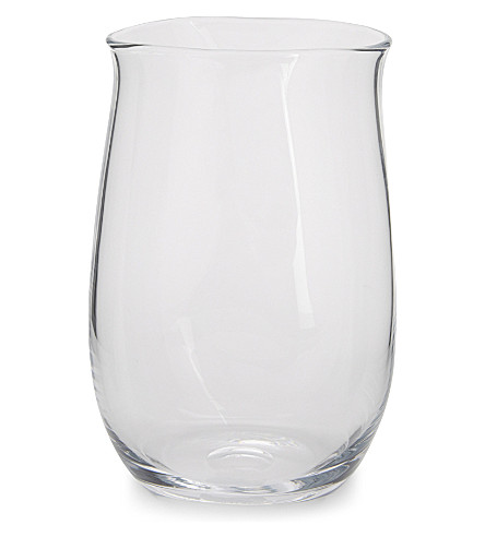 THE WHITE COMPANY Boston large glass vase 24cm (Clear