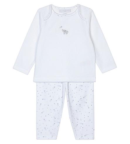 THE LITTLE WHITE COMPANY Kimbo velour pyjamas 0-18 months (White